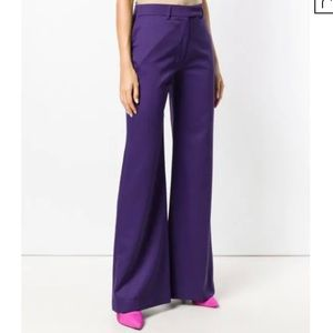 HOUSE OF HOLLAND Wide Leg Trousers In Purple